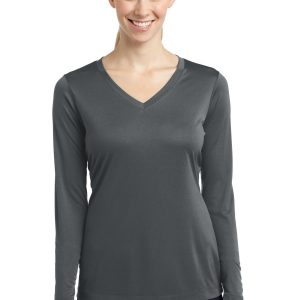 LST353LS Sport-Tek Ladies Long Sleeve PosiCharge Competitor V-Neck Tee